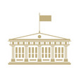 school house with a flag on the roof vector image vector image