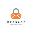 secure message symbol logo design vec vector image vector image
