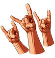 set three hands vector image vector image