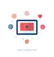Social video viral marketing flat icon vector image