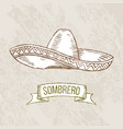 sombrero hand-drawing vector image