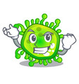 successful cartoon microba virus bacteria in body vector image