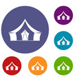 tent camping symbol icons set vector image vector image
