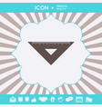 the ruler triangle icon graphic elements for your vector image