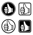 thumb up icons vector image