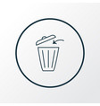 trash bin icon line symbol premium quality vector image