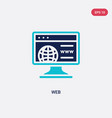 two color web icon from blogger and influencer vector image