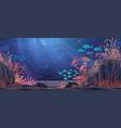 underwater nature background vector image