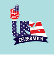 Vote USA Celebration Flag vector image