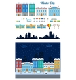 winter city street set vector image vector image