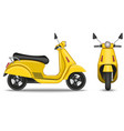 yellow realistic scooter isolated on white vector image