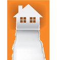 House for sale advertisment template vector image