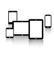 screens-smartphones-tablets vector image