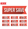 Discount tag flat and long shadow design - - vector image