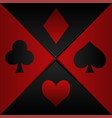 poker playing card symbols vector image