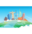 travel to world road trip tourism landmarks on vector image