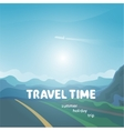 travel time background vector image