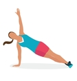 woman female gym fitness workout exercise sport vector image