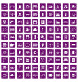 100 comfortable house icons set grunge purple vector image vector image