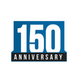 150th anniversary icon birthday logo vector image