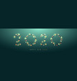 2020 new year from bright garlands vector image vector image