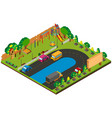 3d design for park with playground vector image vector image