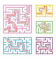 a set of colored square and rectangular vector image vector image