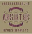 Absinthe label font