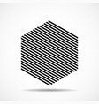 abstract hexagon lines geometric shape vector image vector image