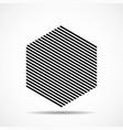 abstract hexagon lines geometric shape vector image