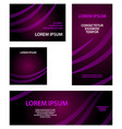 abstract purple banner set with curved lines vector image