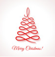 Abstract red Christmas tree on white background vector image vector image