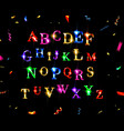 abstract shiny alphabet vector image vector image