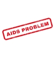 AIDS Problem Text Rubber Stamp vector image vector image