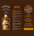 alcohol drink in a bottle banner or brochure vector image