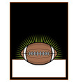 american football ball template background vector image vector image