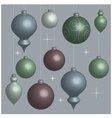 Background Christmas balls soft vector image vector image