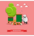 beekeeping Flat design vector image