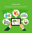 bicycle shop concept vector image vector image