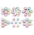 big collection of colorful hexagon for vector image vector image