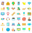 big company icons set cartoon style vector image vector image