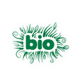 bio sign in form leaves and grass vector image