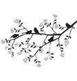 Birds on the blooming branch during vector image vector image
