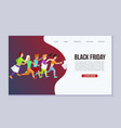 black friday sale event web template vector image vector image