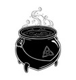 boiling magic cauldron vector image vector image