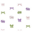 bow seamless pattern girlish fashion white vector image vector image