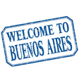 Buenos Aires - welcome blue vintage isolated label vector image vector image