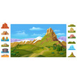 cartoon colorful nature landscape template vector image vector image