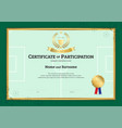 certificate template in football sport theme with vector image vector image