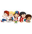 Children from many countries vector image vector image